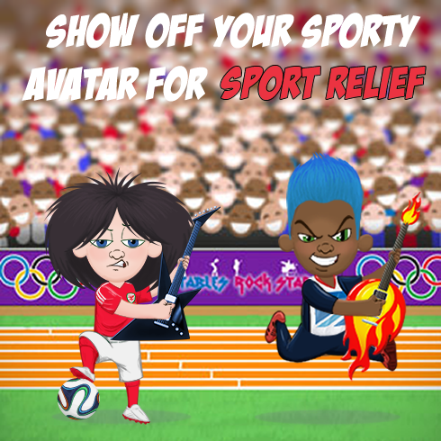 Sport relief 2018. Show off your sporty Times Tables Rock Stars Avatars.
