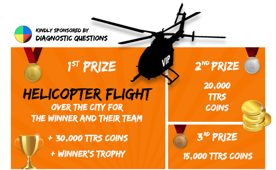 Rock Wrangle Prizes. First prize helicopter flight.