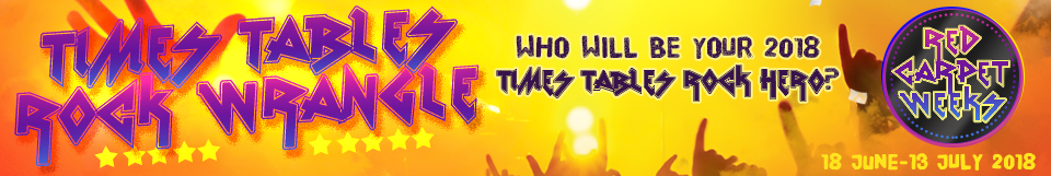Times Tables Rock Stars Red Carpet Week. Who will be your Times Tables Rock Hero?