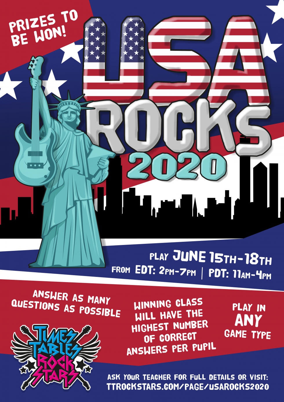 Download your USA Rocks Poster now.