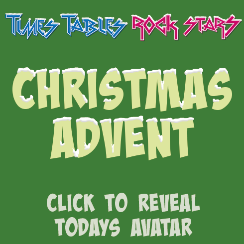 Check out todays avatar for Times Tables Rock Stars Christmas Avatar Advent is here! Click to reveal todays avatar.