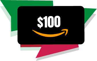 Six Amazon Gift Cards available to win.