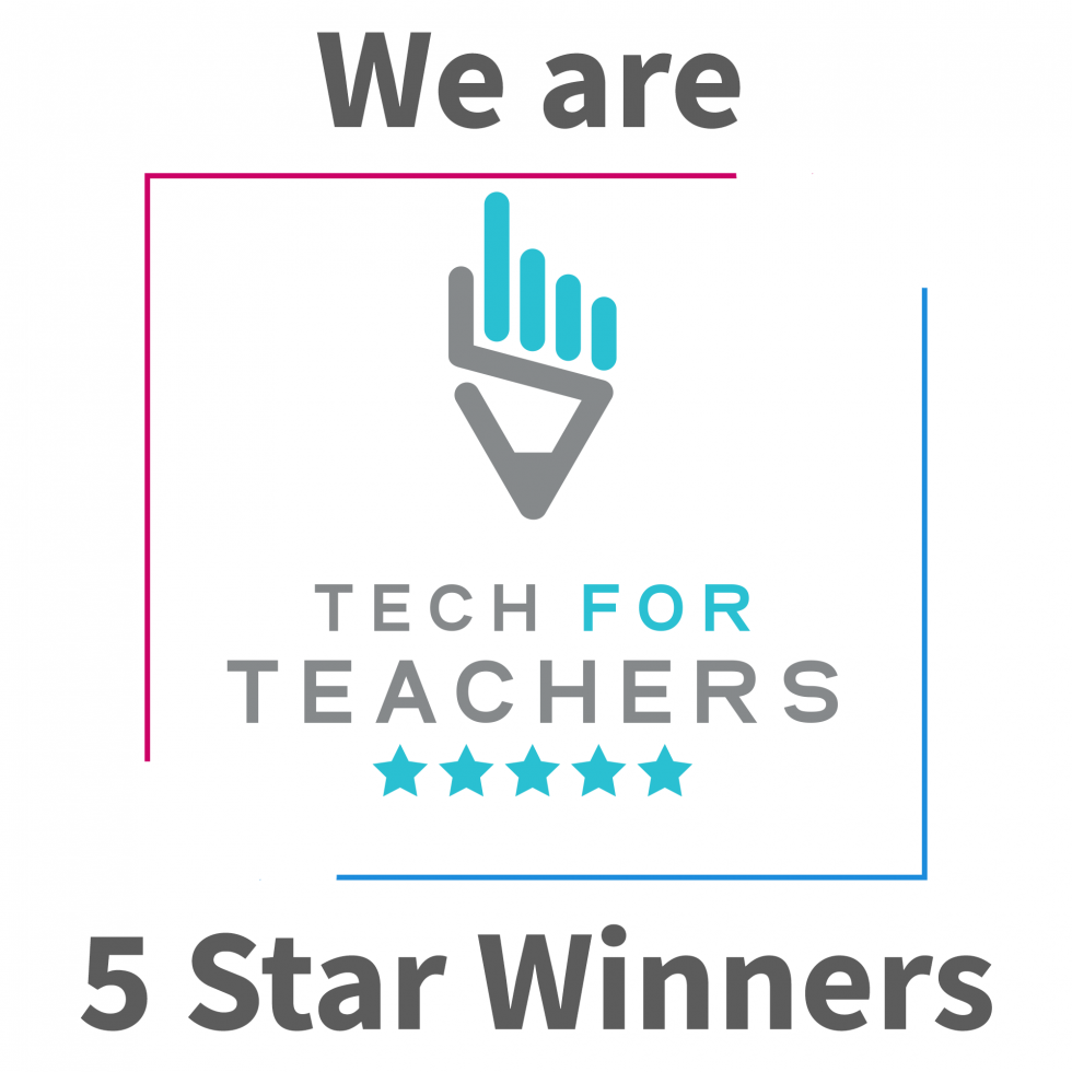 We're a 5 star winner of the Teach for teachers awards 2019.