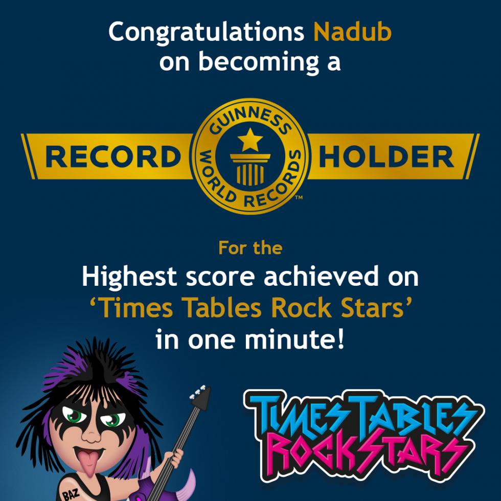 Guinness World Records title holder