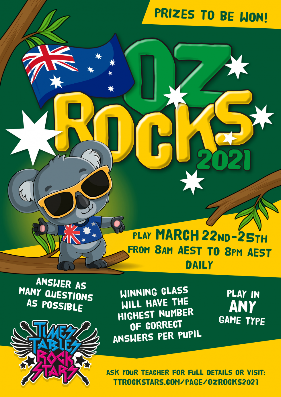 Download your OZ Rocks 2021 Poster now.