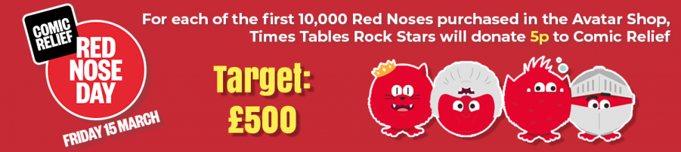 Help Times Tables Rock Stars Raise £500 for Comic Relief.