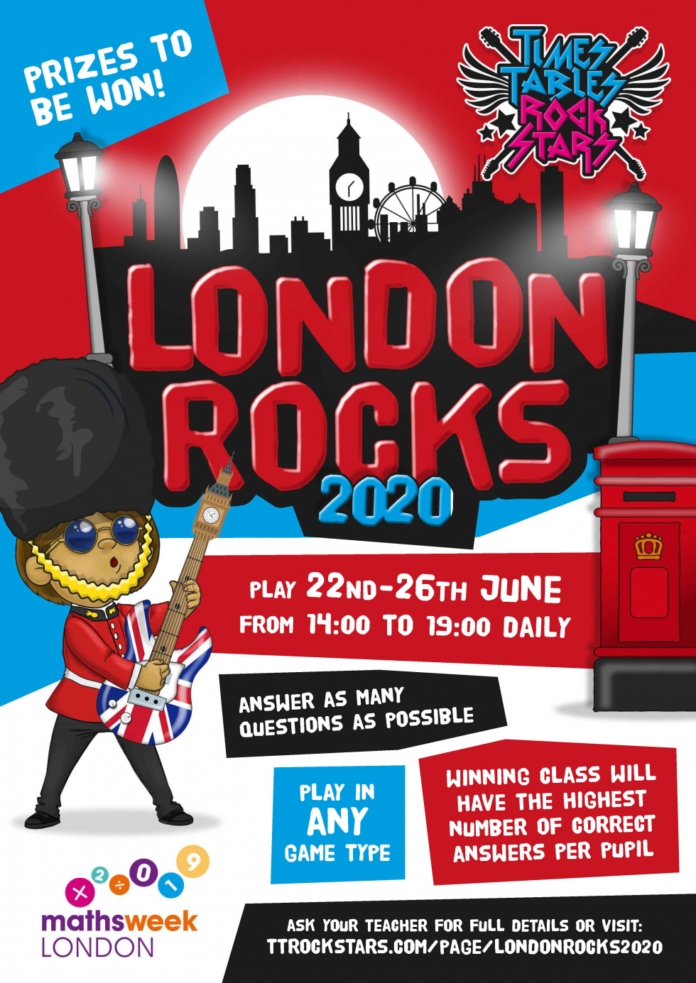 Download your London Rocks Poster now.