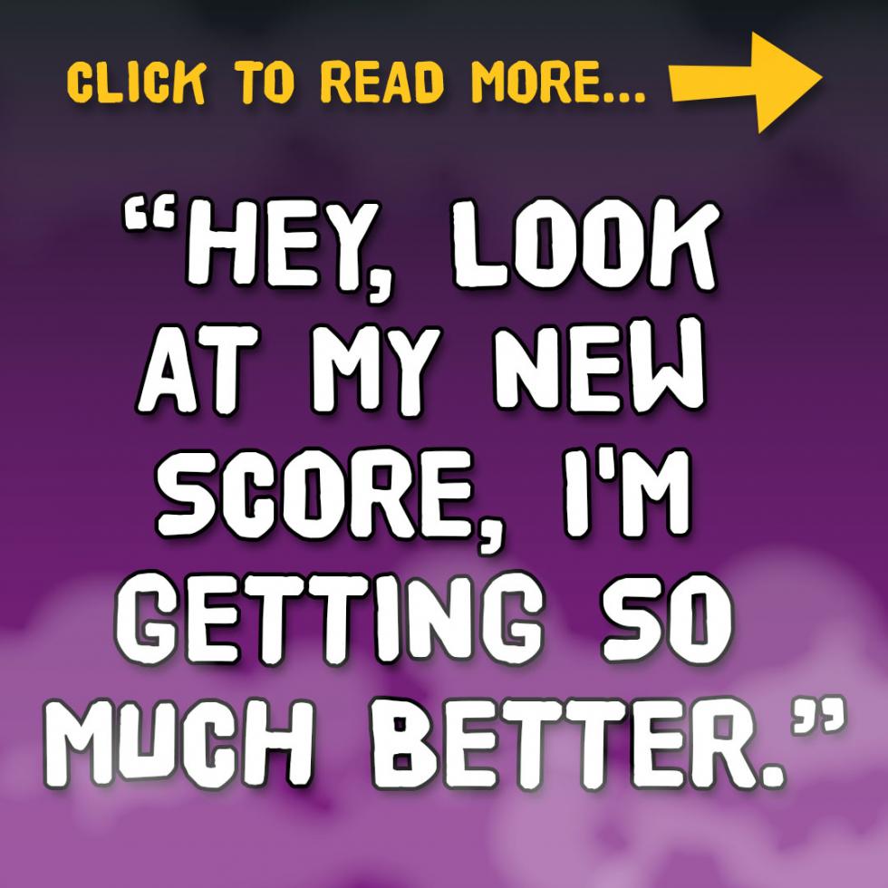 "St John Paul II Collegiate - ""Hey, look at my new score, I'm getting so much better."""