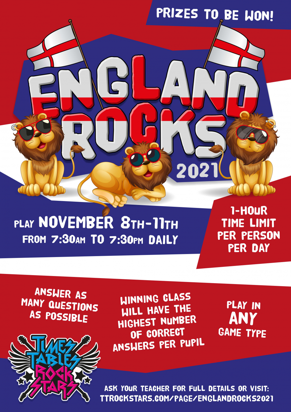 Download your England Rocks 2021 Poster now.